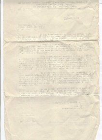 Stand-down letter - Franklyn, click for full size image